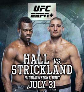 UFC on ESPN: Hall vs. Strickland @ UFC Apex, Enterprise, Nevada.