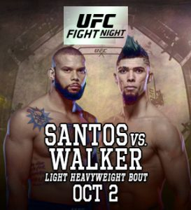 UFC Fight Night: Santos vs. Walker @ UFC Apex, Enterprise, Nevada.